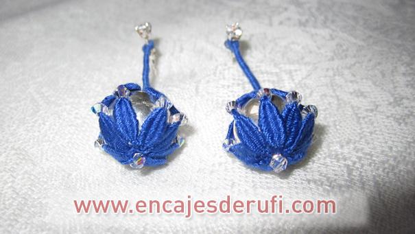 Pendientes de bolas de plata y cristales swarovski
