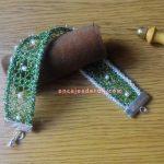 Pulsera Reversible tejida con hilo metalizado