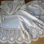 Chal de seda natural con puntilla de encaje de Cluny - Encajes de Rufi
