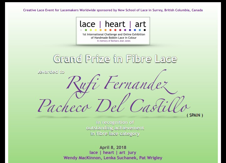 Grand prize in fibra lace - Encajes de Rufi